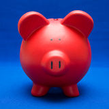 Piggy on Blue Royalty Free Stock Photos