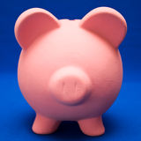 Piggy on Blue Royalty Free Stock Photography