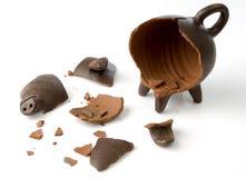 piggy broken moneybox Fotografering för Bildbyråer