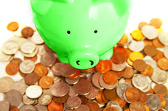 Piggy change Stock Image