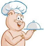 Piggy chef-kok vector illustratie