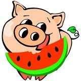 Piggy chinesisches neues Jahr, Karikatur, Feier, Entwurf, Spaß, Glück vektor abbildung