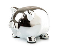 Piggy in Chrome Royalty Free Stock Image