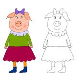 Piggy - Coloring book Stock Photo