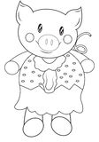 Piggy coloring page. Useful as coloring book for kids Stock Photo