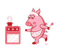 Piggy cook Royalty Free Stock Photo