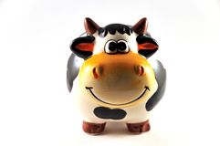 Piggy cow. Piggy bank to save money in the form of cow Stock Photo