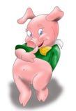 Piggy denkt Royalty-vrije Stock Foto's