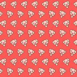 Piggy - emoji pattern 21. Pattern of a emoji piggy that can be used as a background, texture, prints or something else royalty free illustration