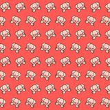 Piggy - emoji pattern 24. Pattern of a emoji piggy that can be used as a background, texture, prints or something else vector illustration