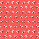Piggy - emoji pattern 13. Pattern of a emoji piggy that can be used as a background, texture, prints or something else stock illustration