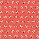 Piggy - emoji pattern 20. Pattern of a emoji piggy that can be used as a background, texture, prints or something else stock illustration