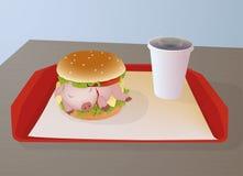 Piggy für das Mittagessen Lizenzfreie Stockfotografie