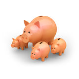 Piggy famely Stock Images