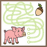Piggy game. Royalty Free Stock Photography