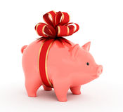 Piggy Geschenk-Bank Lizenzfreie Abbildung