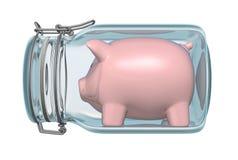 piggy glass jar för grupp Royaltyfri Bild