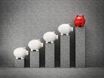 Piggy graph Stock Photos