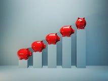 Piggy graph Royalty Free Stock Photo