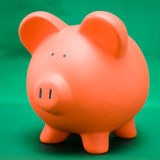 Piggy on Green Royalty Free Stock Photography