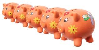 Piggy grupper Arkivbild