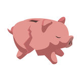 Piggy icon. Money design. Vector graphic. Money concept represented by Piggy icon. Isolated and flat illustration Royalty Free Stock Photography