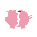 Piggy icon. Money design. Vector graphic. Money and financial item concept represented by Piggy icon. isolated and flat illustration Stock Photography