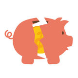 Piggy icon. Money design. Vector graphic. Money and financial item concept represented by Piggy icon. isolated and flat illustration Stock Photo