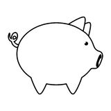 Piggy icon. Money and Financial item design. Vector graphic Stock Photos