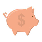 Piggy icon. Money and Financial item design. Vector graphic Royalty Free Stock Photos