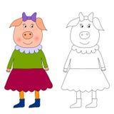 Piggy - libro di coloritura Fotografia Stock
