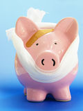 Piggy medical blue Royalty Free Stock Photo