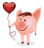 Piggy mit dem Inneren stock abbildung