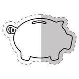 Piggy money banking icon. Illustration eps 10 Stock Photo