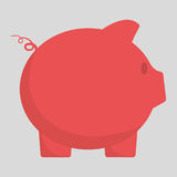 Piggy of money concept. Piggy icon. Money financial item commerce market and payment theme. Colorful design. Vector illustration Stock Image