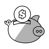 Piggy money safety bank shadow Stock Image
