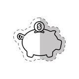 Piggy money saving bank. Illustration eps 10 Royalty Free Stock Photos