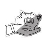 Piggy money saving. Icon  illustration graphic design Royalty Free Stock Photos