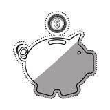 Piggy money saving. Icon  illustration graphic design Stock Photos