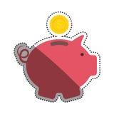 Piggy money saving. Icon  illustration graphic design Royalty Free Stock Photography