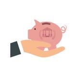 Piggy money saving. Icon  illustration graphic design Stock Images