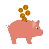 Piggy moneybox cartoon Stock Photos