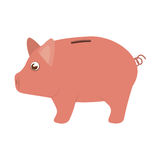 Piggy moneybox cartoon Royalty Free Stock Photo