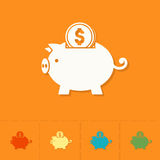 Piggy Moneybox with Coins Stock Image