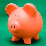 Piggy no verde Fotografia de Stock Royalty Free