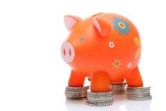 Piggy Orange Lizenzfreies Stockbild