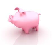 Piggy packa ihop stock illustrationer