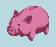 Piggy packa ihop Royaltyfri Foto