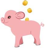 Piggy packa ihop Royaltyfri Bild