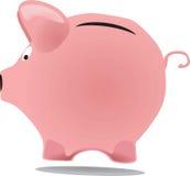 Piggy packa ihop Arkivbild